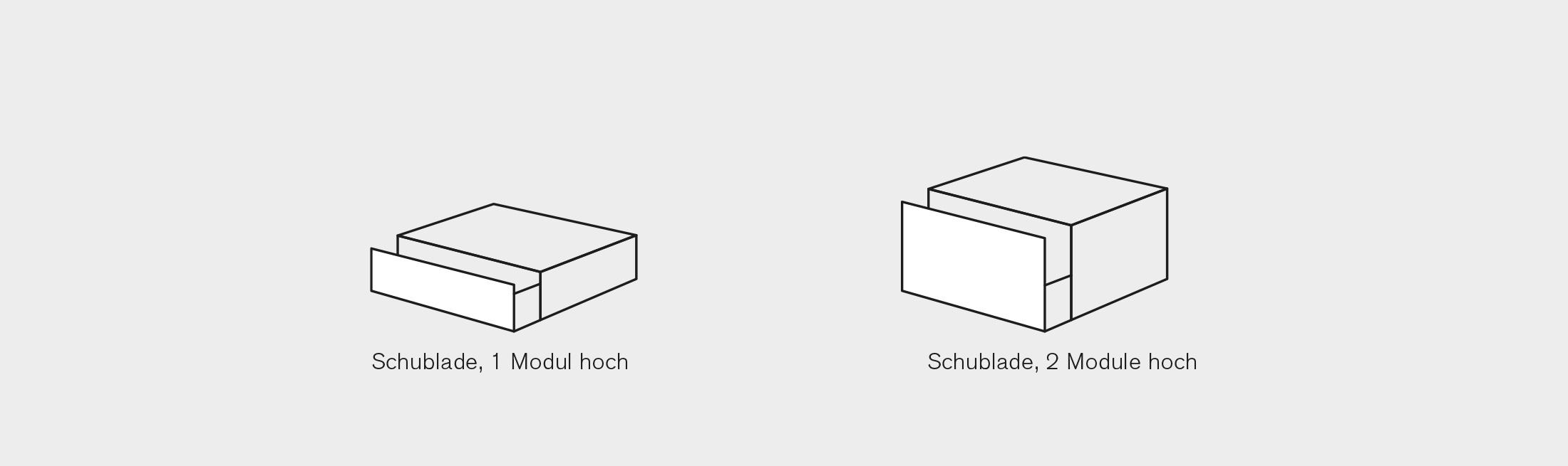 BARD AG   Modul-System   Schubladen Grösse 1