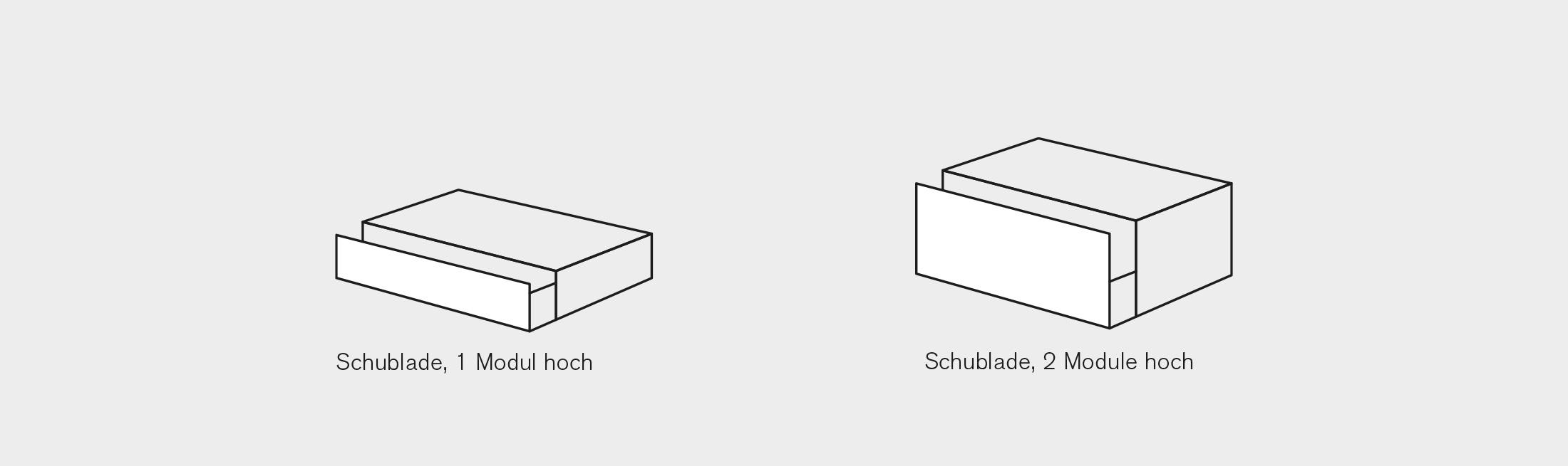 BARD AG   Modul-System   Schubladen Grösse 2